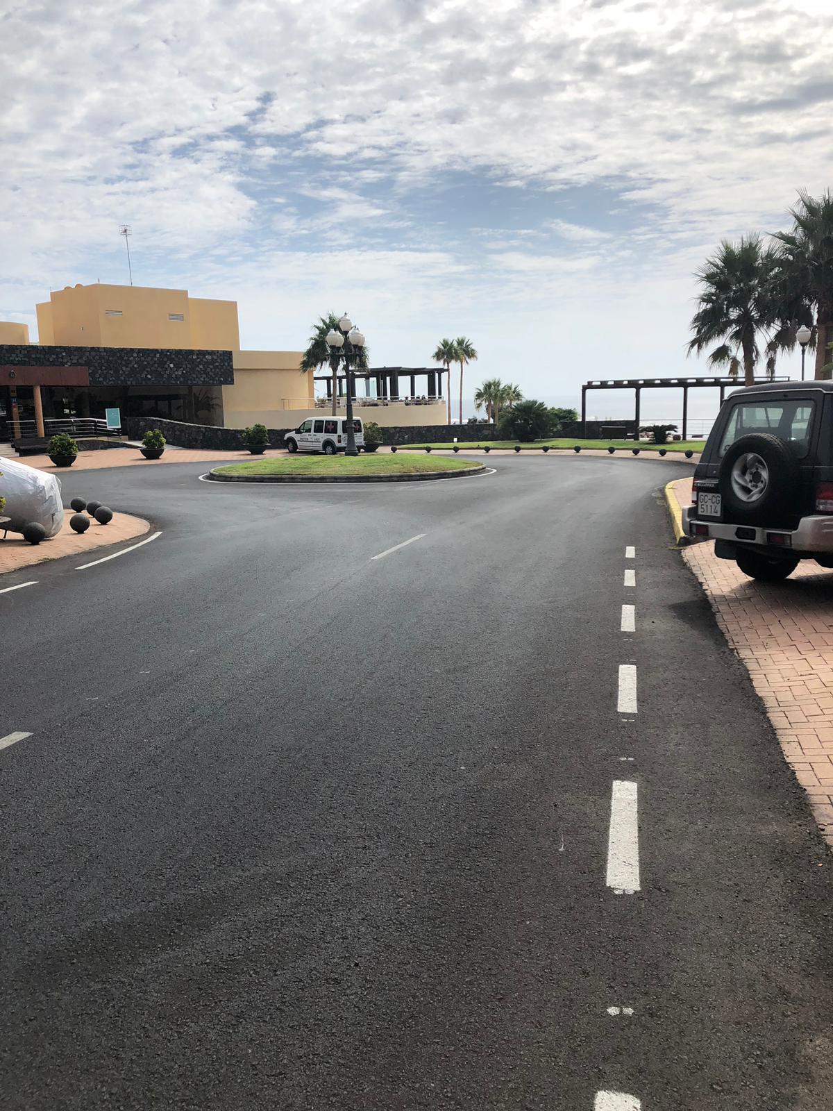 Zona aparcamientos Hotel Iberostar en Morro Jable-Jandía